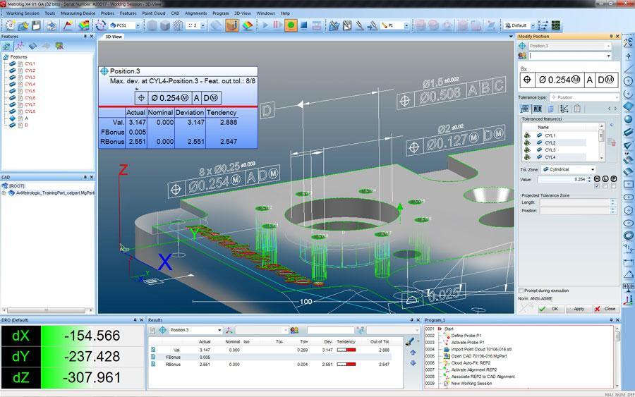 Metrolog x4三坐标软件